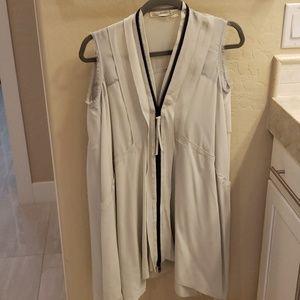 All Saints light blue zipper front dress size US 2